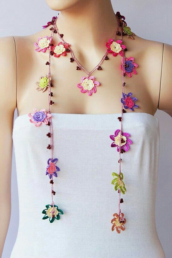 Pin von Carolina Aquino auf crochet | Pinterest | Bastelei, Ketten ...