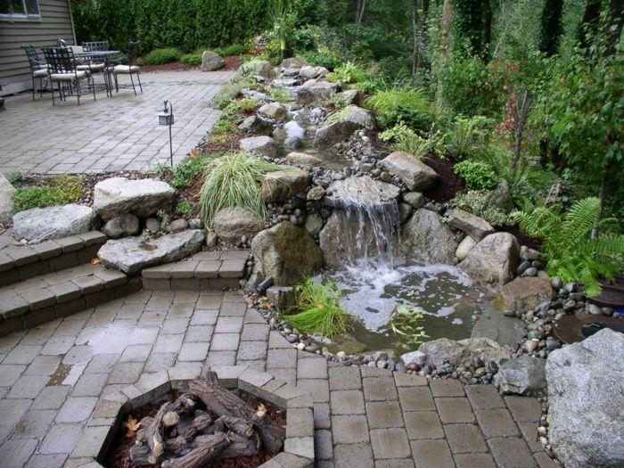 Wasserfall Im Garten Selber Bauen Und Die Harmonie Der Natur