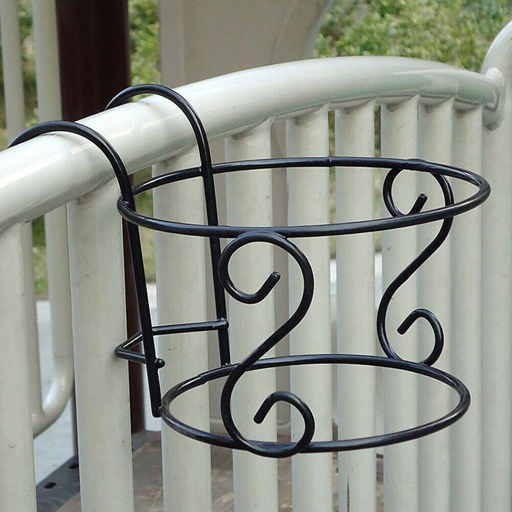 Iron Wall Hanging Rack Flower Hook Bracket Hanger Art Plant Holder