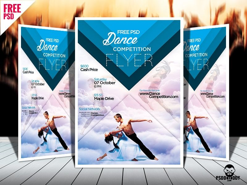Dance Competition Psd Flyer Template Free Download Free Download Free Business Card Templates Photography Business Cards Template Psd Flyer Templates