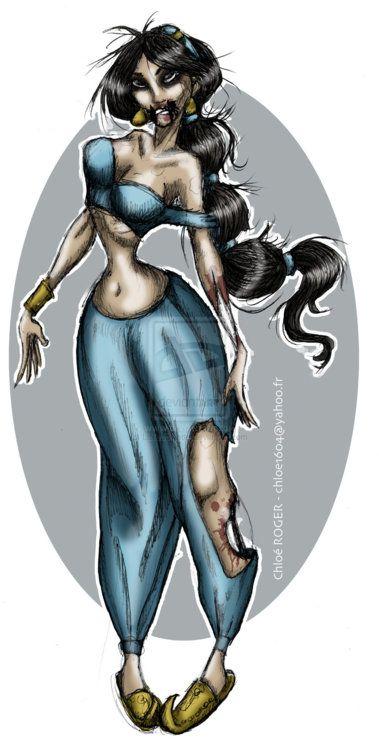 Zombie princesses - disney-princess Fan Art