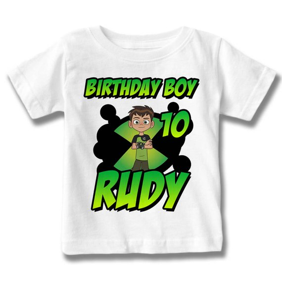 Personalized Ben 10 Birthday T Shirt Custom Name And Age Boy TShirt
