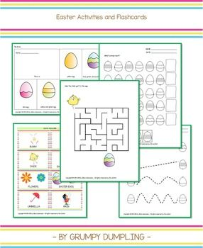 Easter Egg Activities and Flashcards {FLASH FREEBIE}