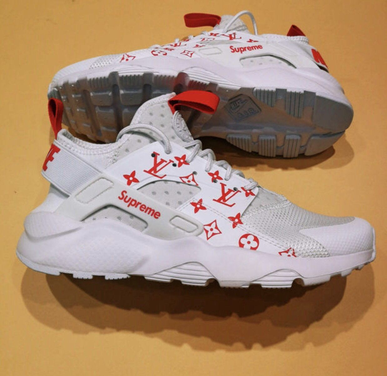 stable quality fresh styles official supplier Louis Vuitton x Supreme Huaraches | Nike air huarache women ...