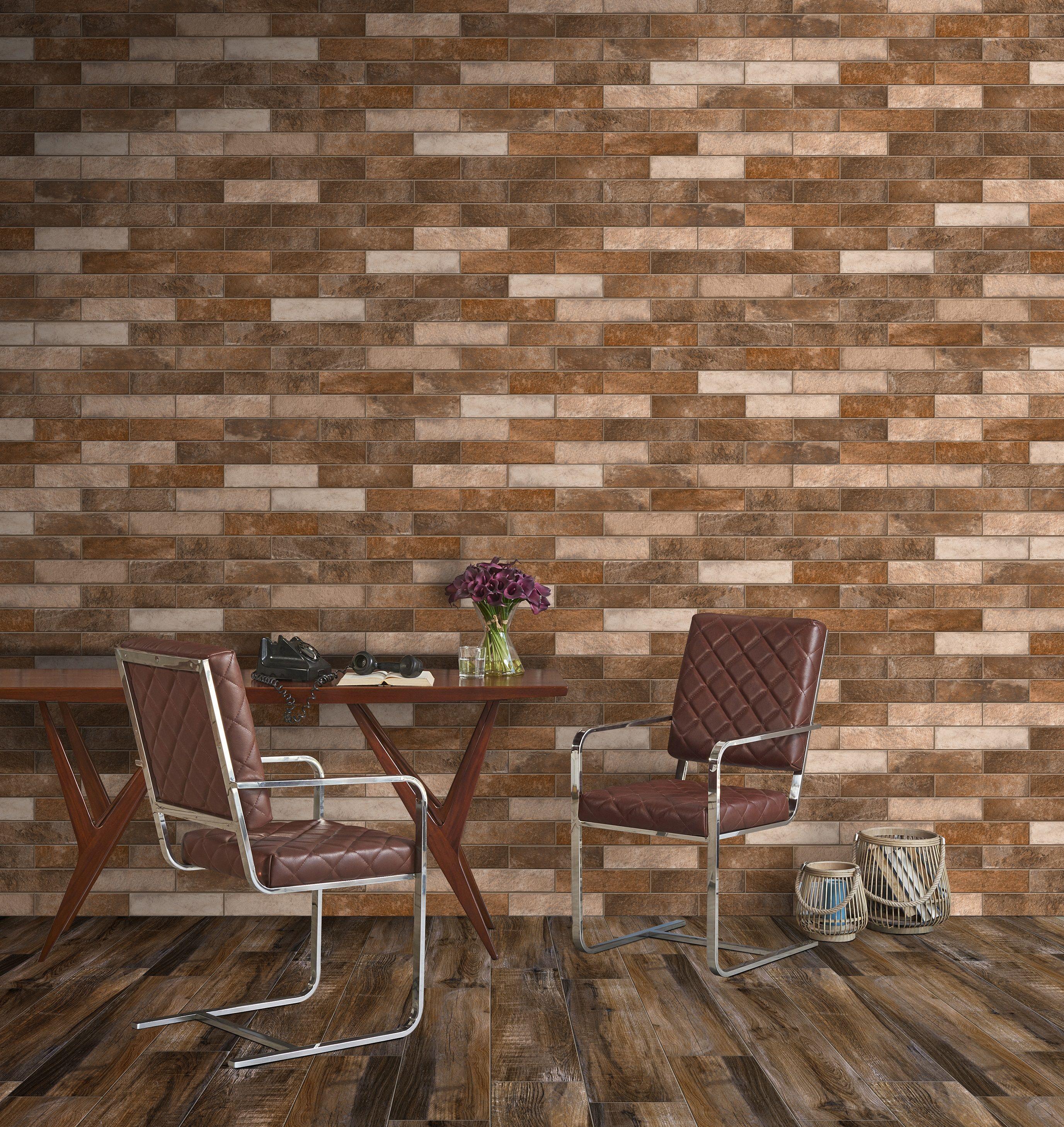 Brick Look Tile | LONDON | Glazed Porcelain, 6x25 cm, Matt ...
