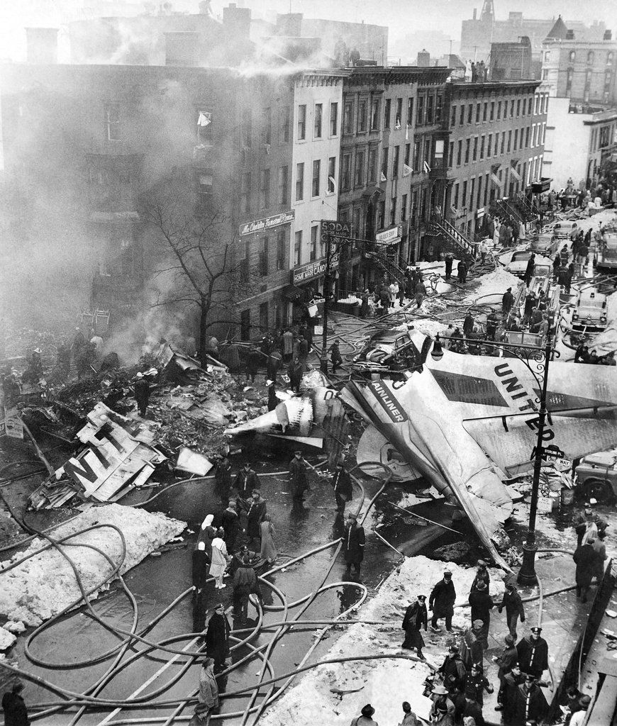 Dec. 16, 1960, The wreckage of an airliner fell onto a