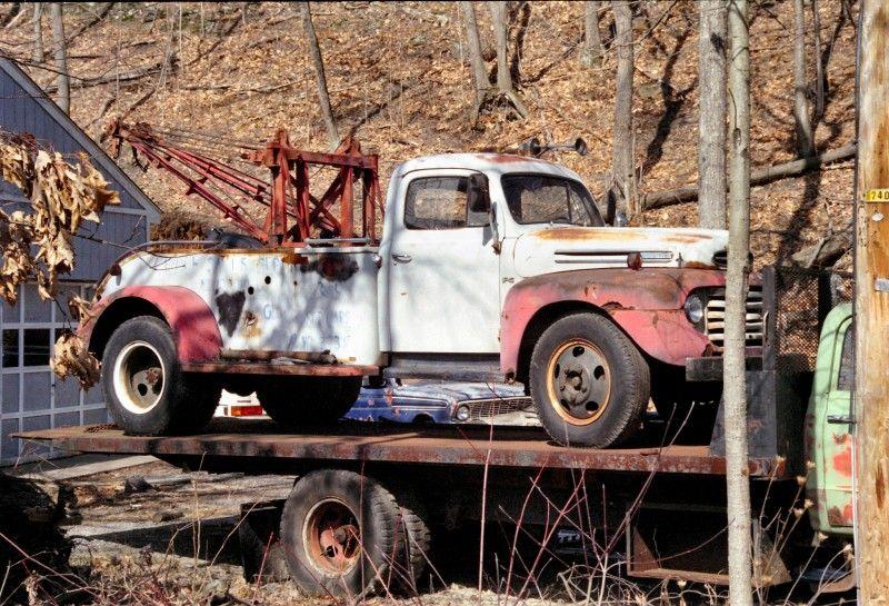 1948 1950 Ford F6 Wrecker Vintage Pickup Trucks Tow Truck Antique Trucks