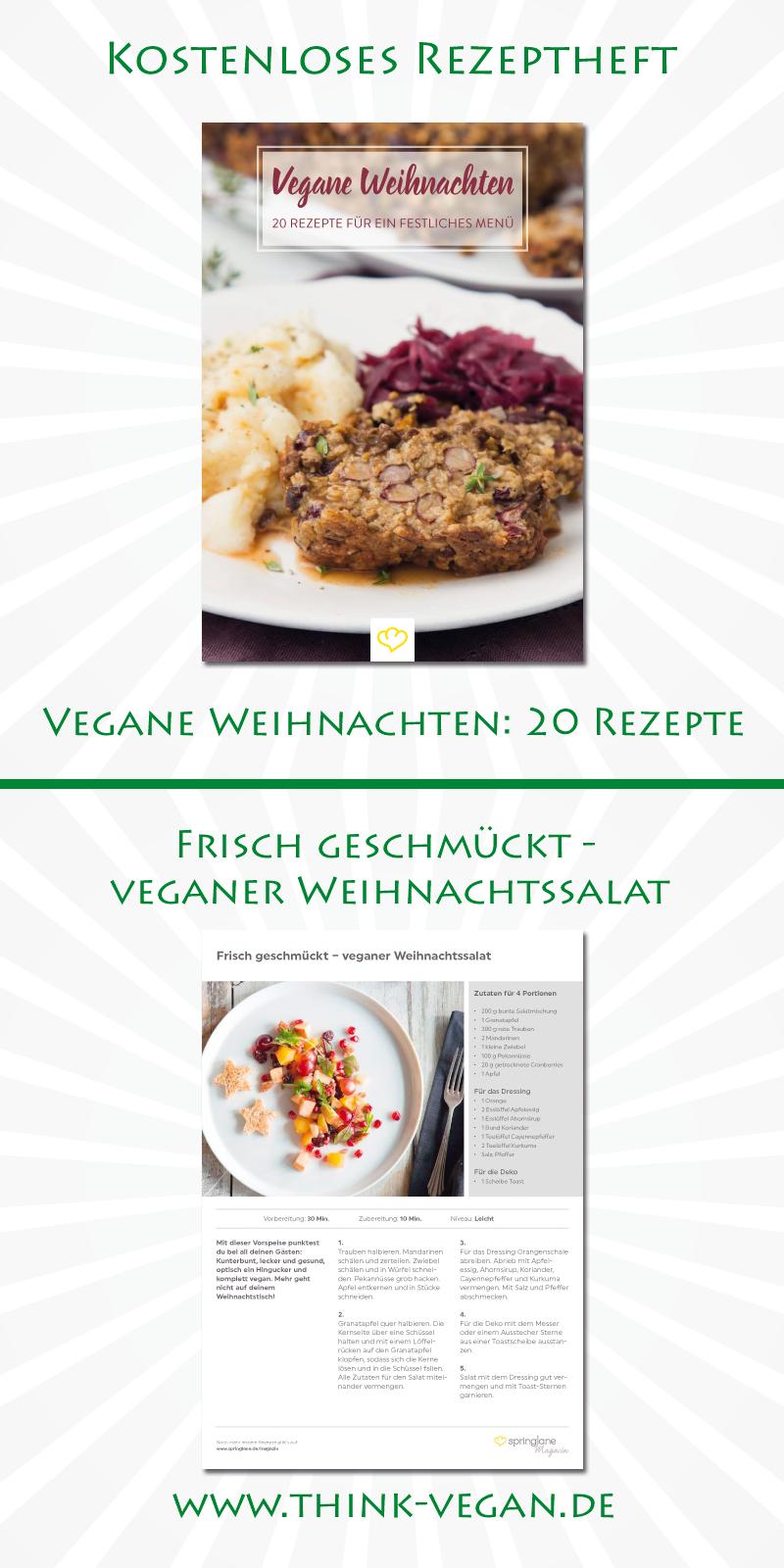 Frisch geschmückt – veganer Weihnachtssalat // Vegane Weihnachten ...