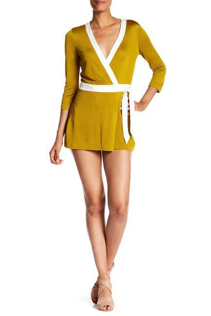 Celeste Two Banded Wrap Dress