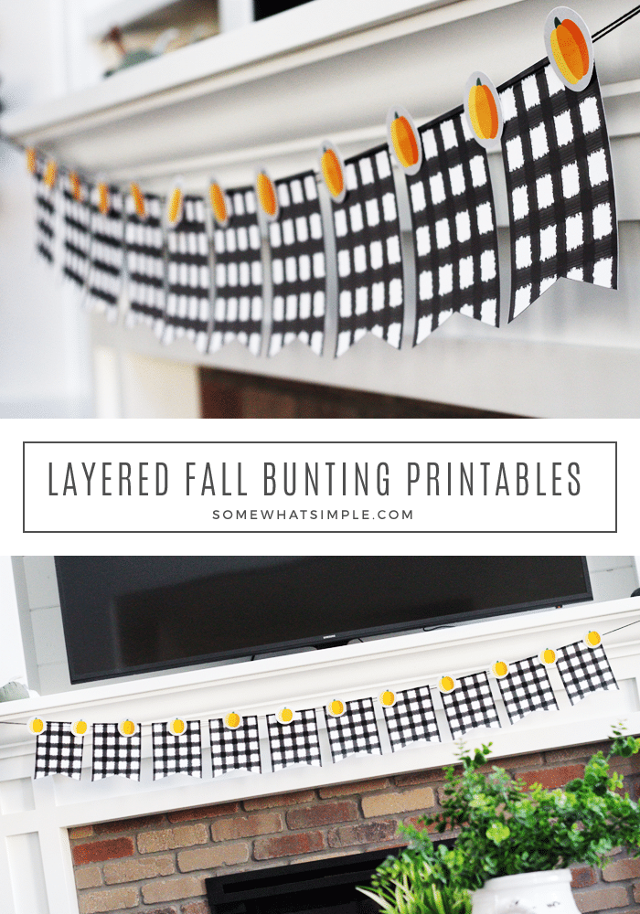 Thanksgiving Home Office Interior Design: Free Printable Layered Fall Banner