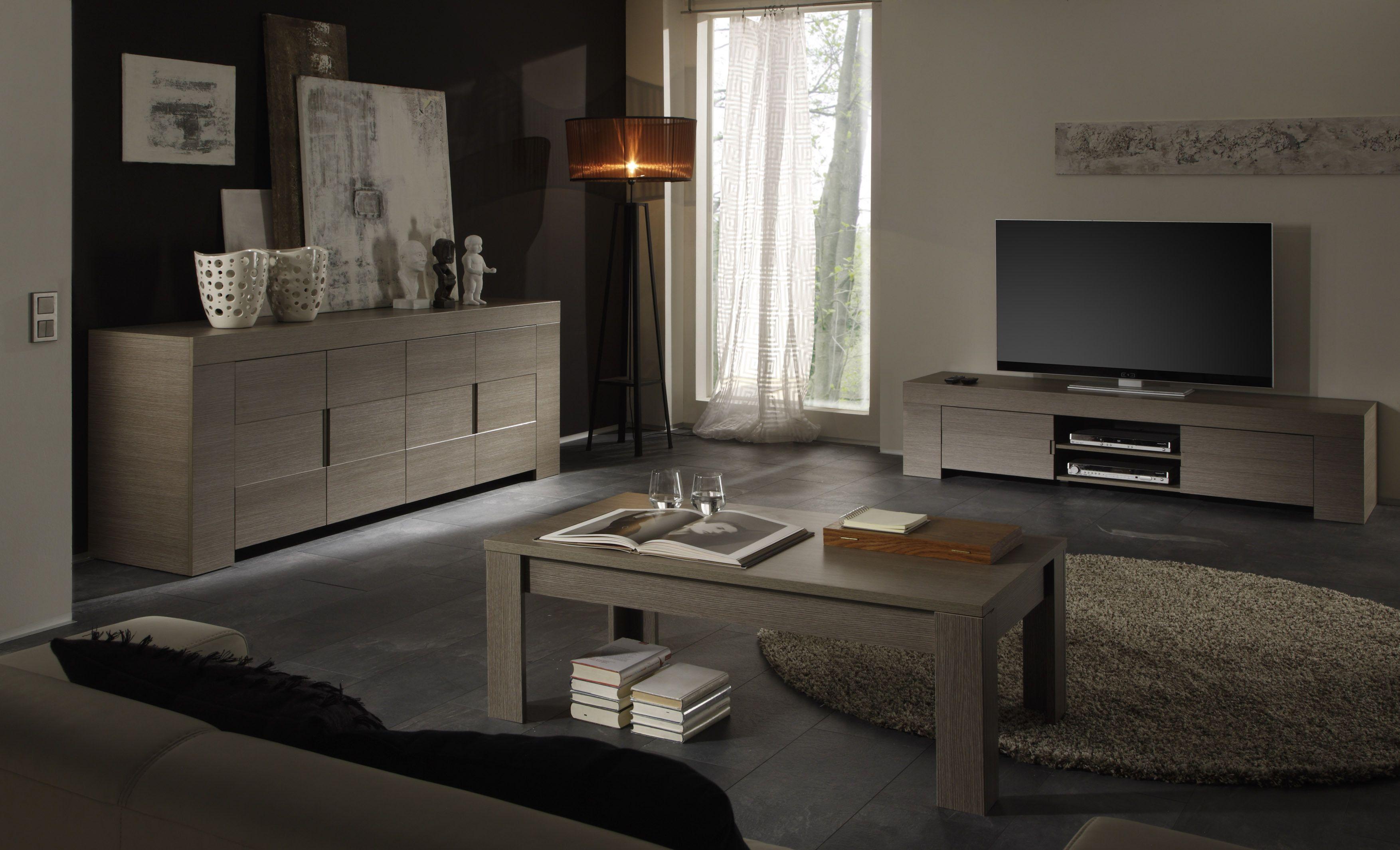 Wohnzimmer Eiche Grau Melamin Woody 12-00550 modern Jetzt bestellen ...