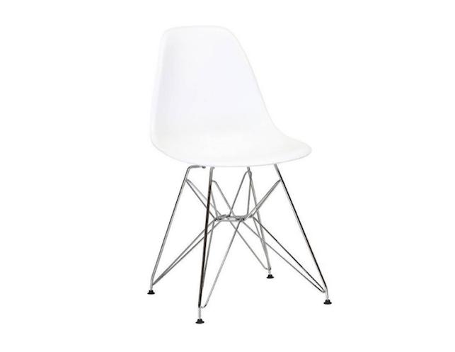 Eames White Plastic Chair Eiffel Metal Legs The Local Vault White Plastic Chairs Plastic Chair Chair