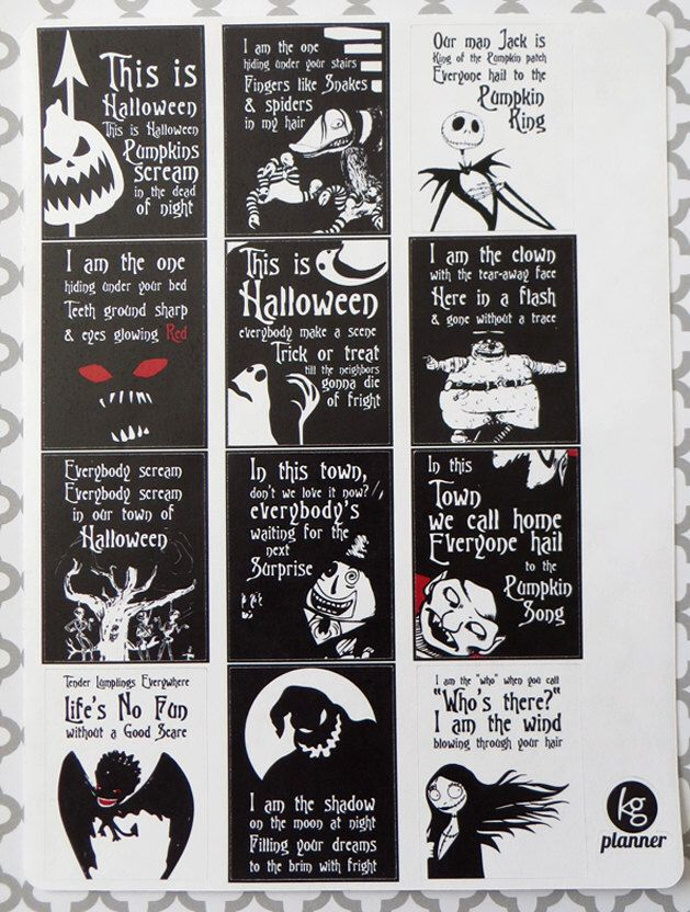 Nightmare Before Christmas Quote Full Box Planner Nightmare Before Christmas Quotes Nightmare Before Christmas Halloween Nightmare Before Christmas Decorations