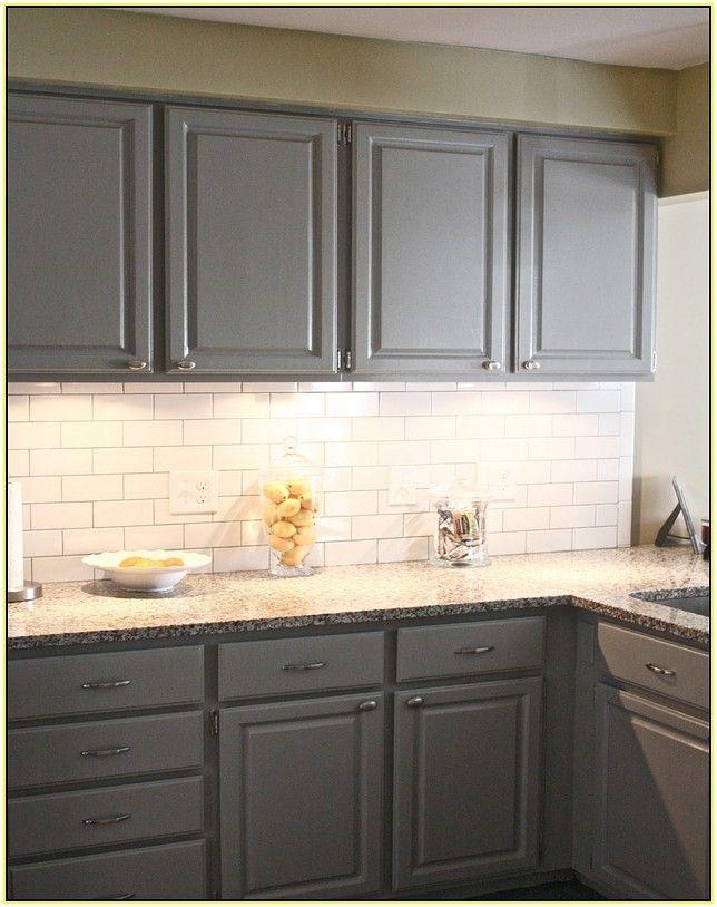 White Subway Tile Backsplash Dark Grout Kitchen In 2019