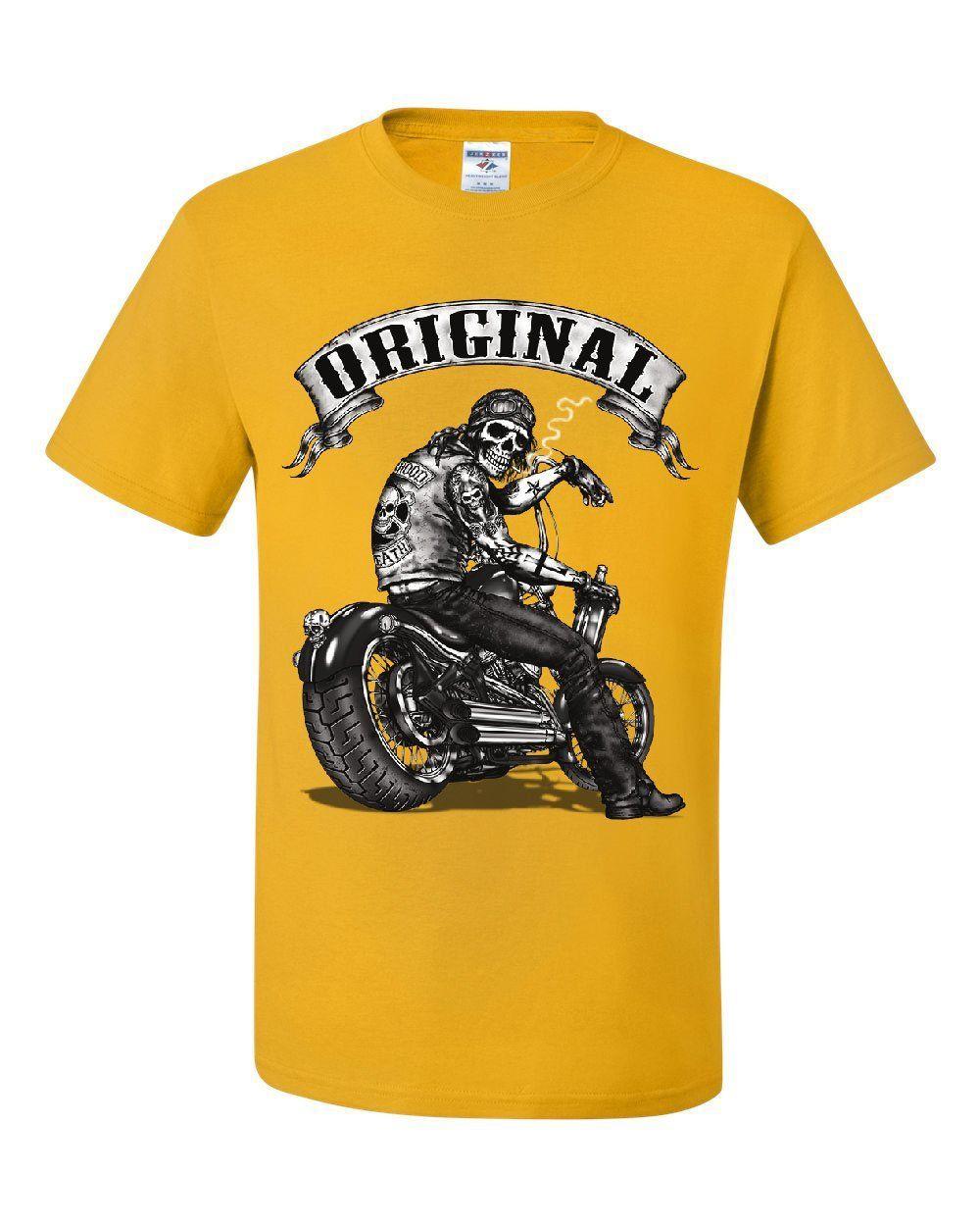 Original Biker Skull Sweatshirt Ride or Die Route 66 Motorcycle MC Sweater