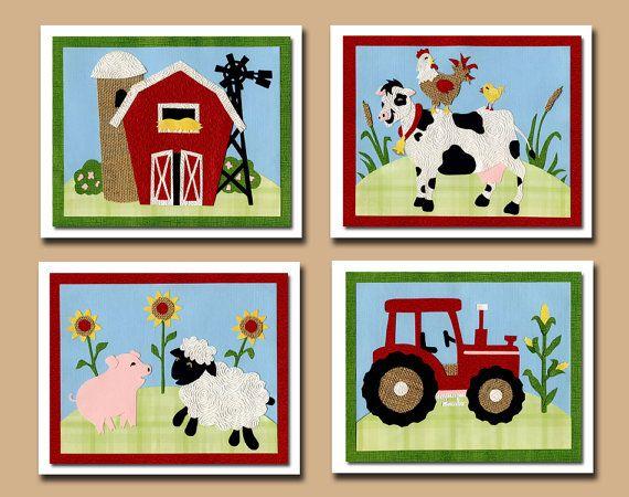 Farm, Farm Animals, Nursery Art, Nursery Decor, Kids Decor