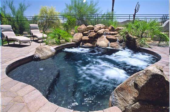 Phoenix Pool Arizona Spas And Spools California Pools And Spas Pool Landscaping Spool Pool California Pools