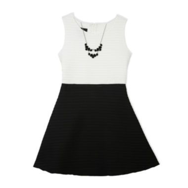 8c34ca69409f7 by by Girl Sleeveless Fit and Flare Dress - Girls 7-16 and Plus found at   JCPenney