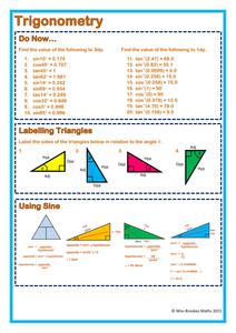 Trigonometry-Worksheet-Answers pdf | Maths | Trigonometry worksheets