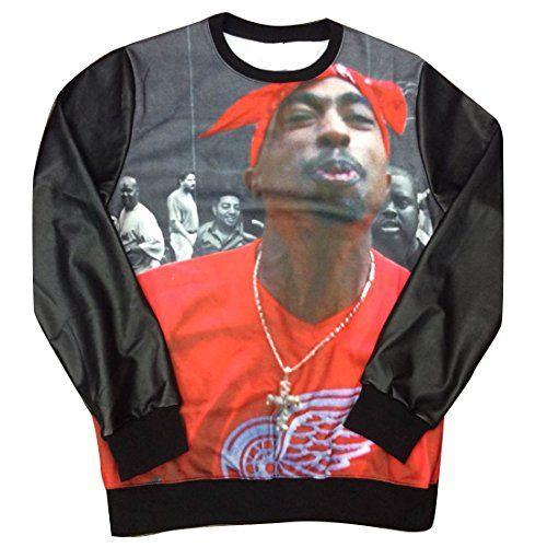 8cbc1cdb91d89 awesome Unisex Black Sweater Red Wing 2Pac Tupac Shakur Sweatshirt T Shirt  (M)