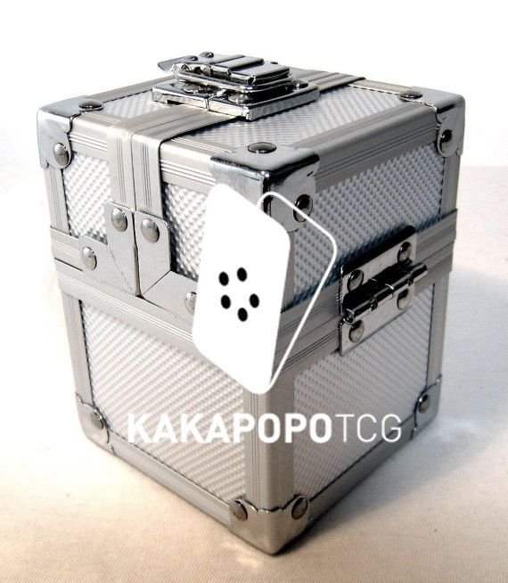 Km S02 Silver Lockable Metal Deck Box Or Dice Box For Tcg Mtg