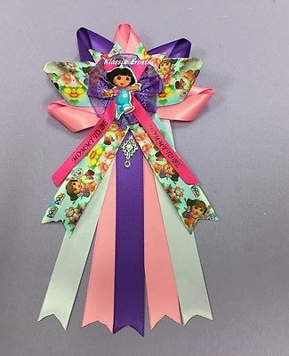Dora Theme Mom To Be Baby Shower Corsage Girl Coration Corsage