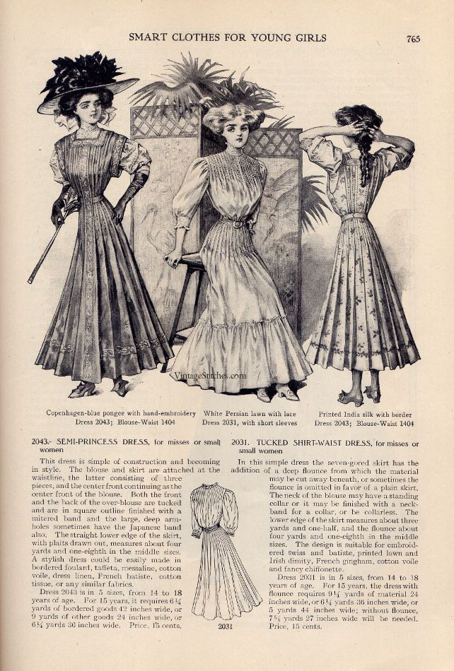 https://flic.kr/p/exDcJ7 | May 1908 The Delineator | From the collection of Jessica H. Jaeger  Smart Clothes for Young Girls