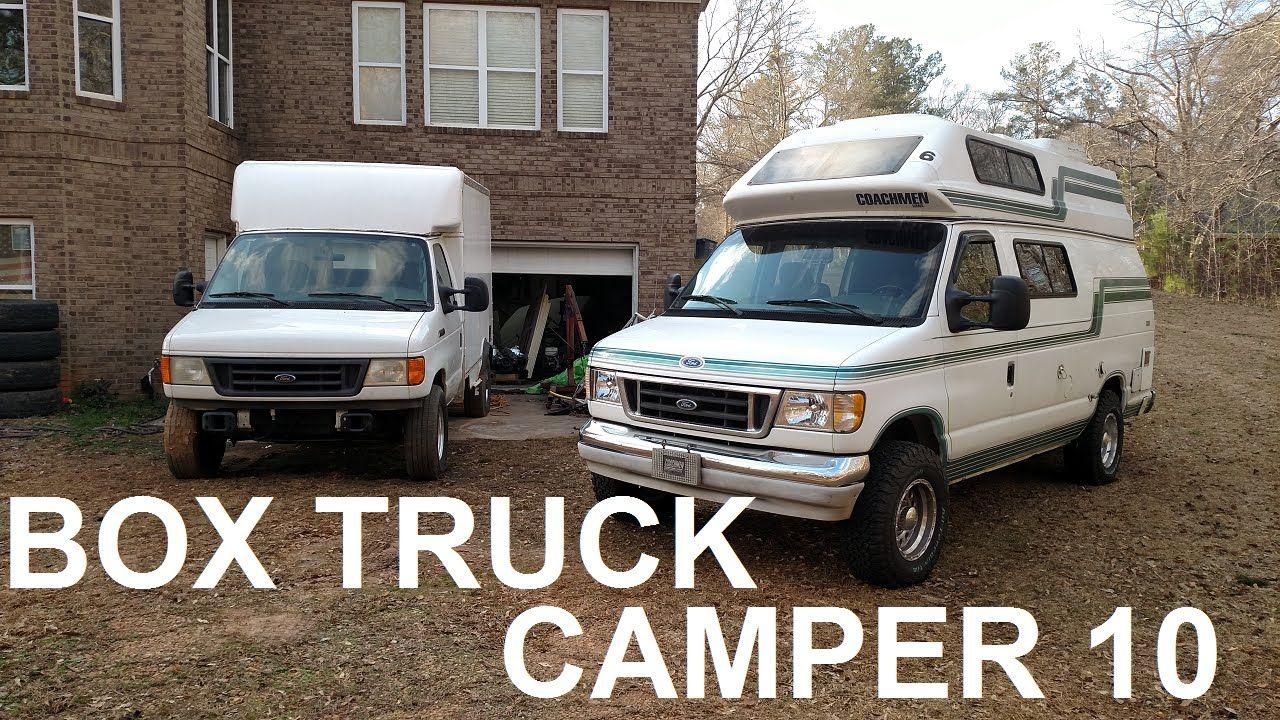 Box Truck Camper 10 Roof Repairs And Hitch Install Truck Camper Camper Trucks