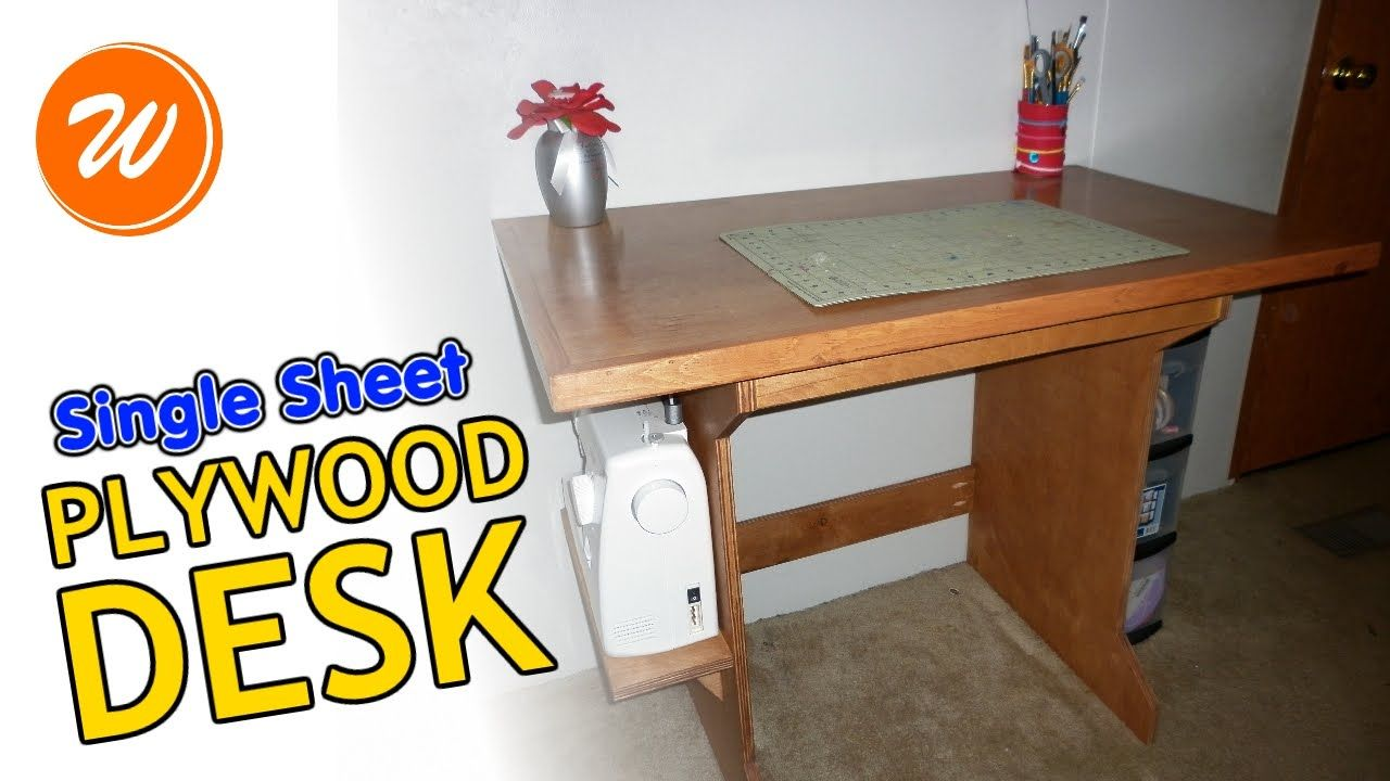 How To Make A Plywood Desk Simple One Sheet Diy Plywood Desk Simple Desk Desk
