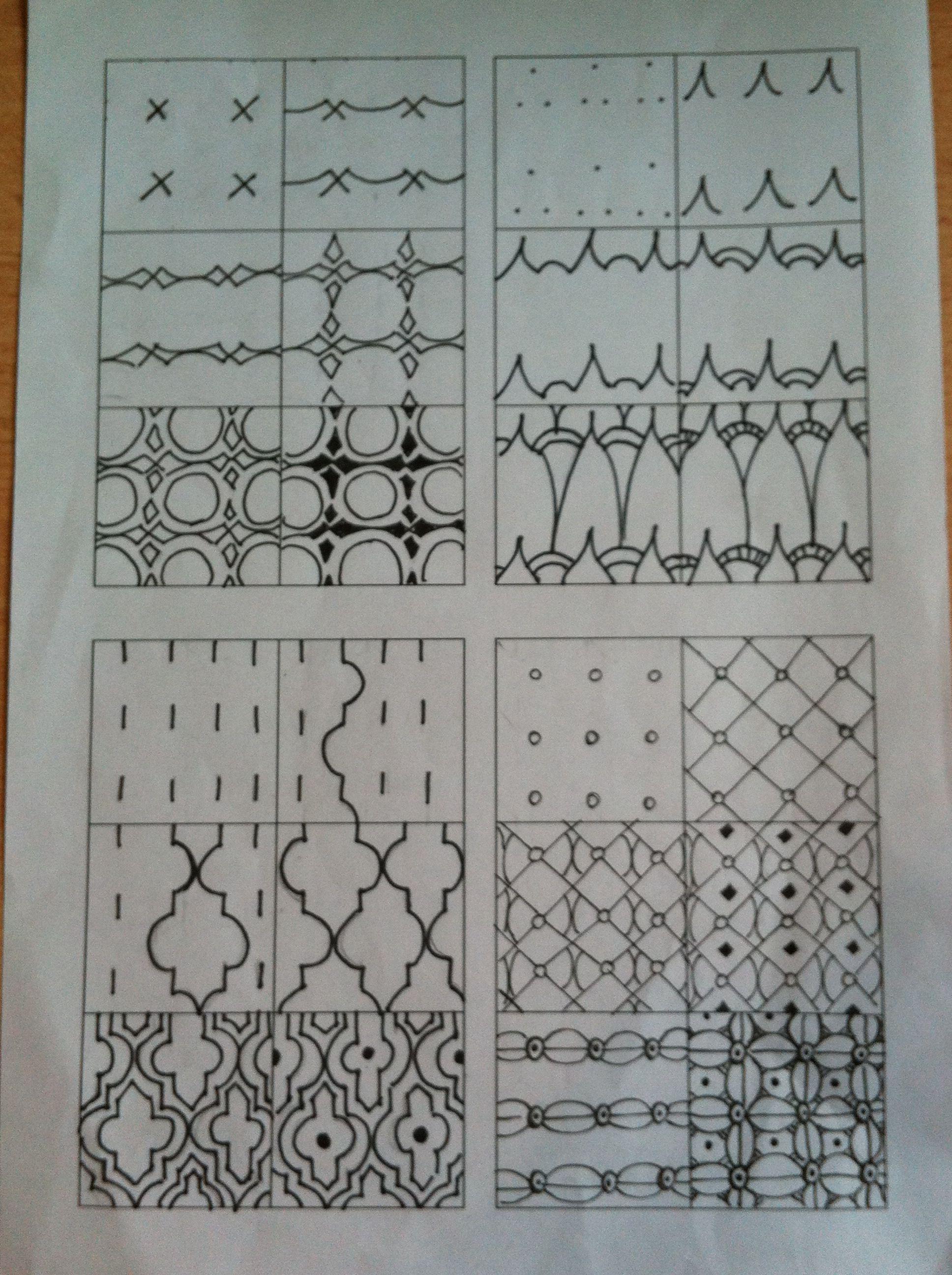 Zentangle stappen Zentangle tutorial