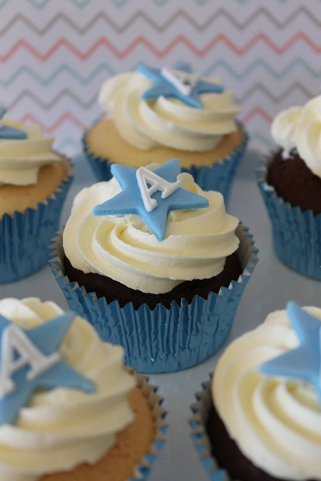 Boy Christening cupcakes crumbsbakery.com.au