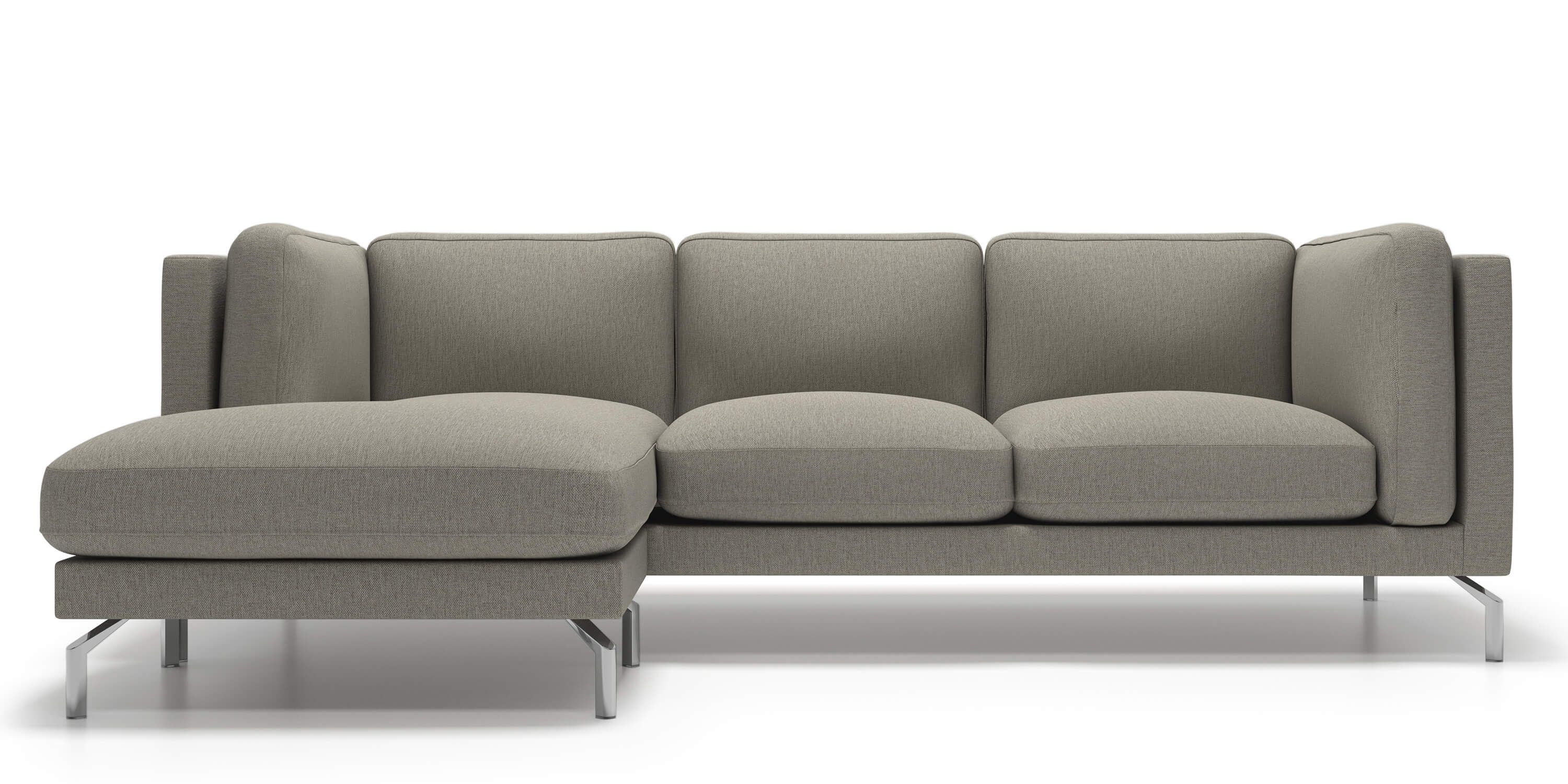 Malmo Sofa Sectional in Grey Goose Fabric by Kavuus $2645 00