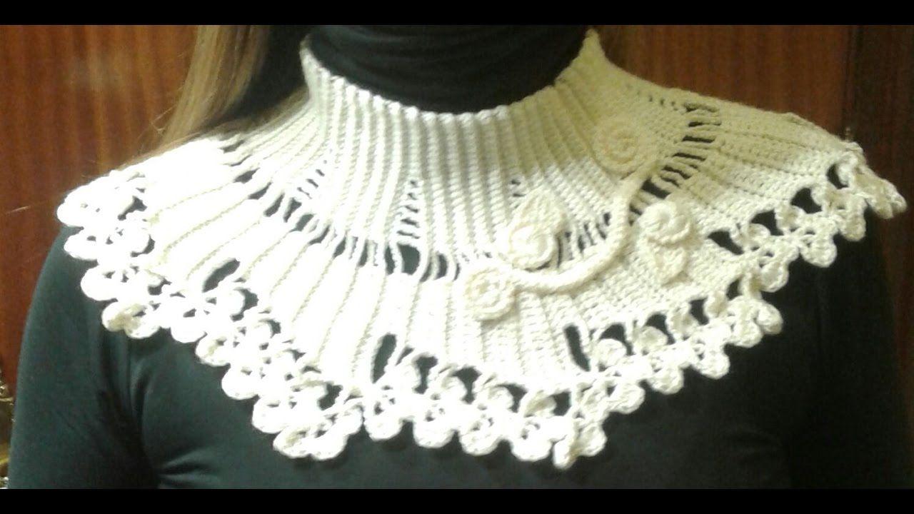 cuello facil crochet elegante para mujer | BUFANDAS VARIAs ...