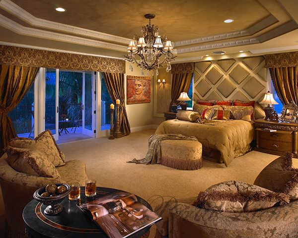 Suburbs Mama Nursery In Master Bedroom: Wide View Of Master Bedroom Showing Slider To Pool And