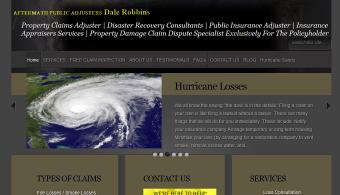 Public Adjuster-Dale Robbins .En Masse Web Design,Internet Marketing,Web Portfolio, Reading, Berks, PA