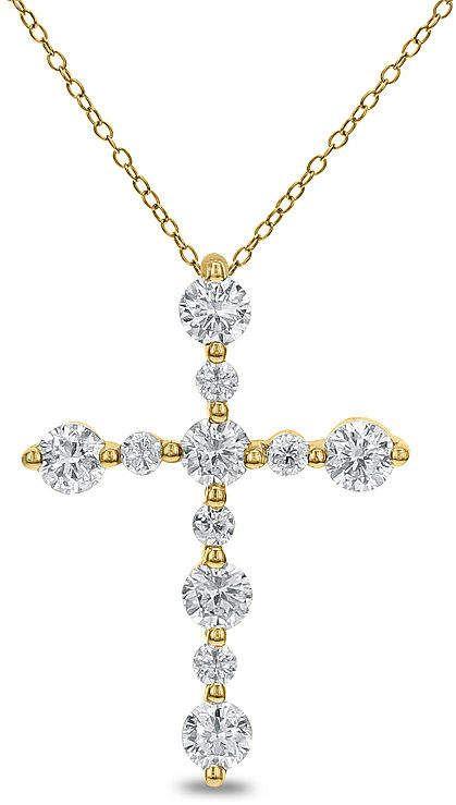 Fine Jewelry Womens 3 CT. T.W. White Diamond 14K Gold Pendant Necklace FwyqCx