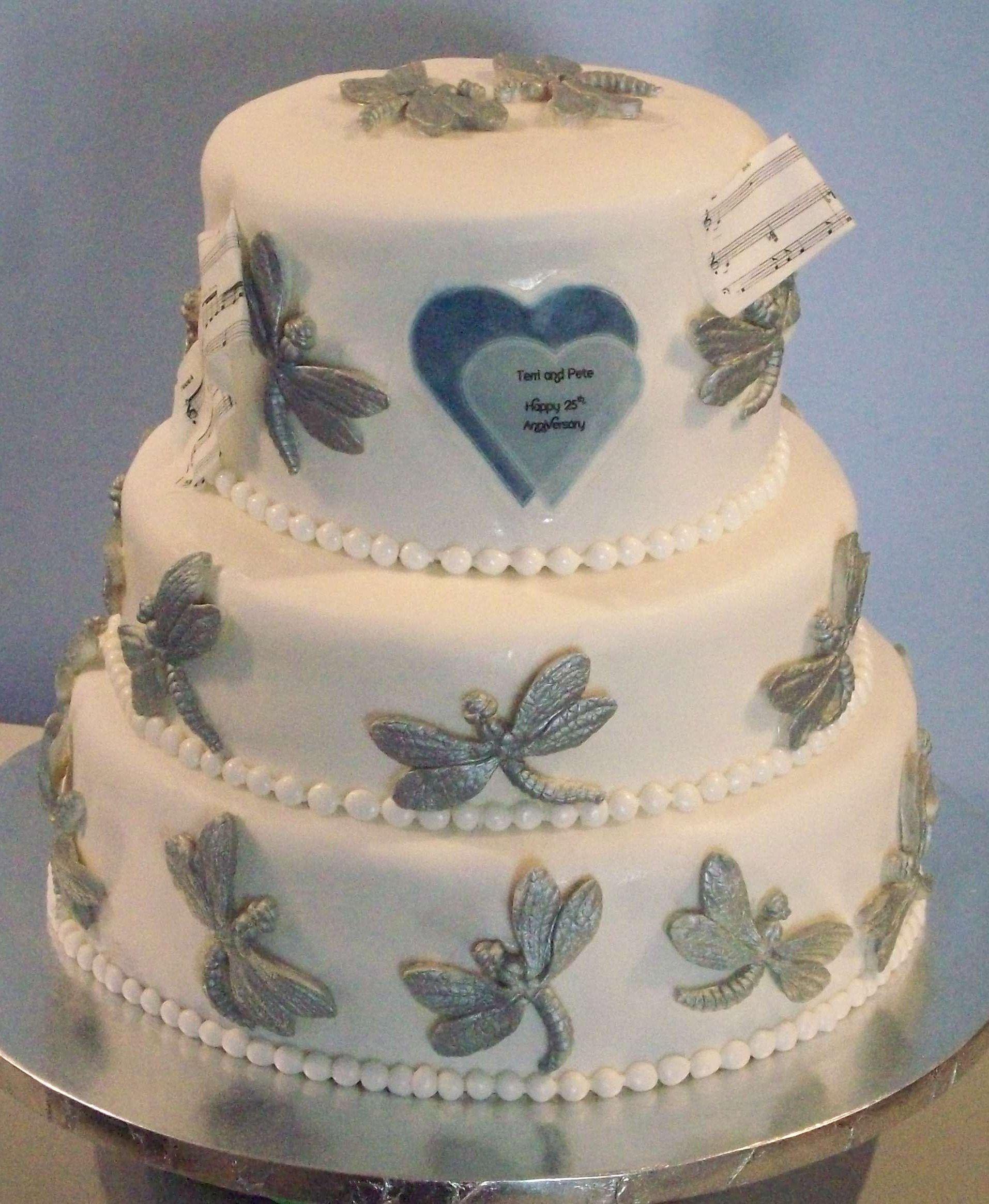 25th Wedding Anniversary Cake Ideas: Smoochies Creations -25th Wedding Anniversary Cake With 25