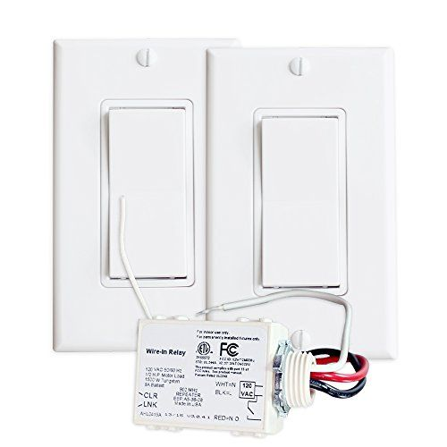 Runlesswire 3 Way Wireless Switch Kit Control A Light Source From Two Separate Points With Real Light Switc Wireless Switch Wireless Light Switch Light Switch