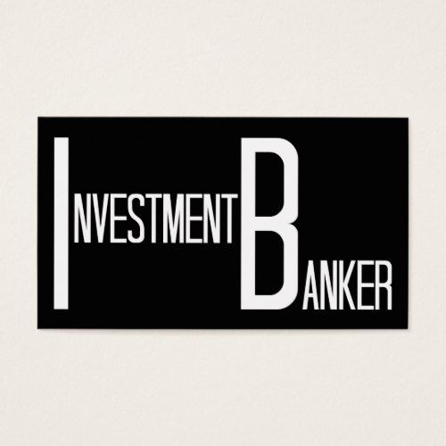 Investment Banker Word Business Card