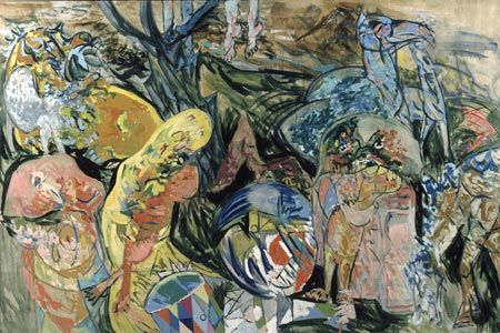 Richard Mortensen - Vision.Maleri til Arthur Rimbaud. 1944 - Foto: Hans Petersen - Statens Museum for Kunst