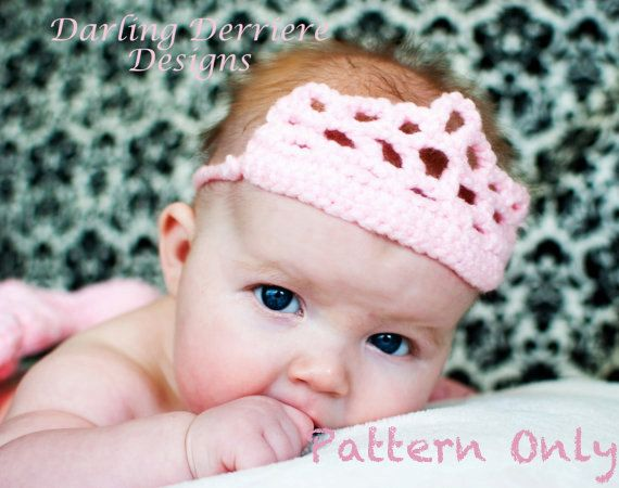 Instant Download PDF Crochet Princess Crown PATTERN #crownscrocheted