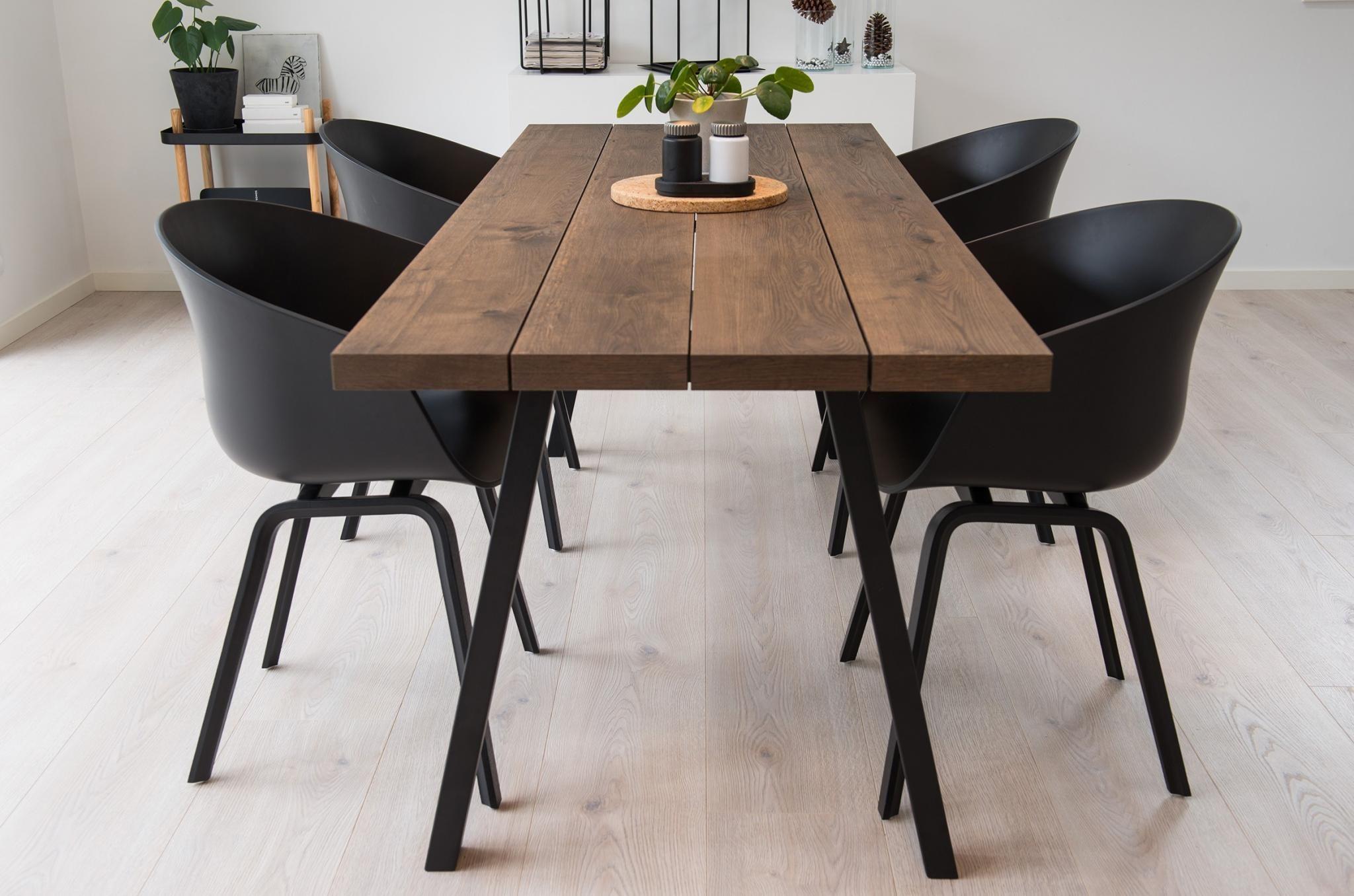 Photo of Freja Plank Table In Dark Oak | Naturplank.dk ApS