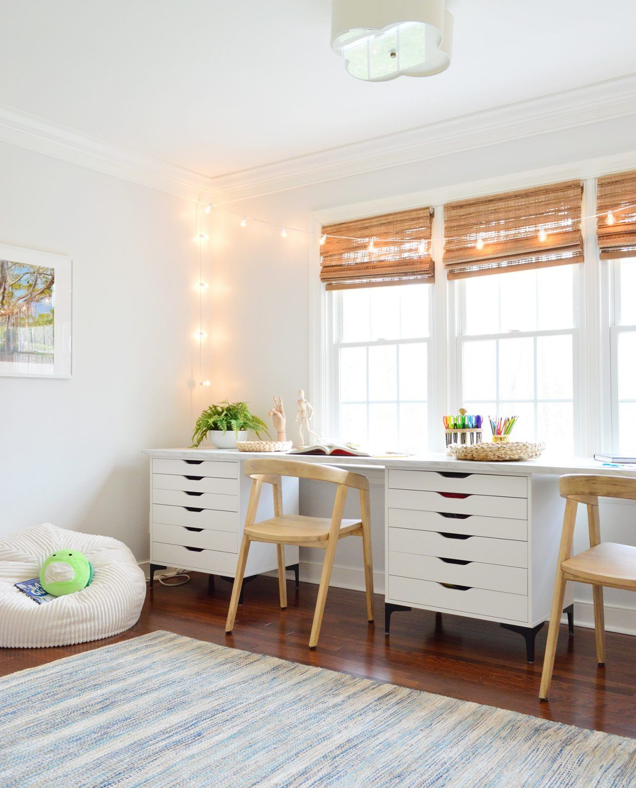 Turning A Mostly Unused Room Into A Kids Art & Work Space