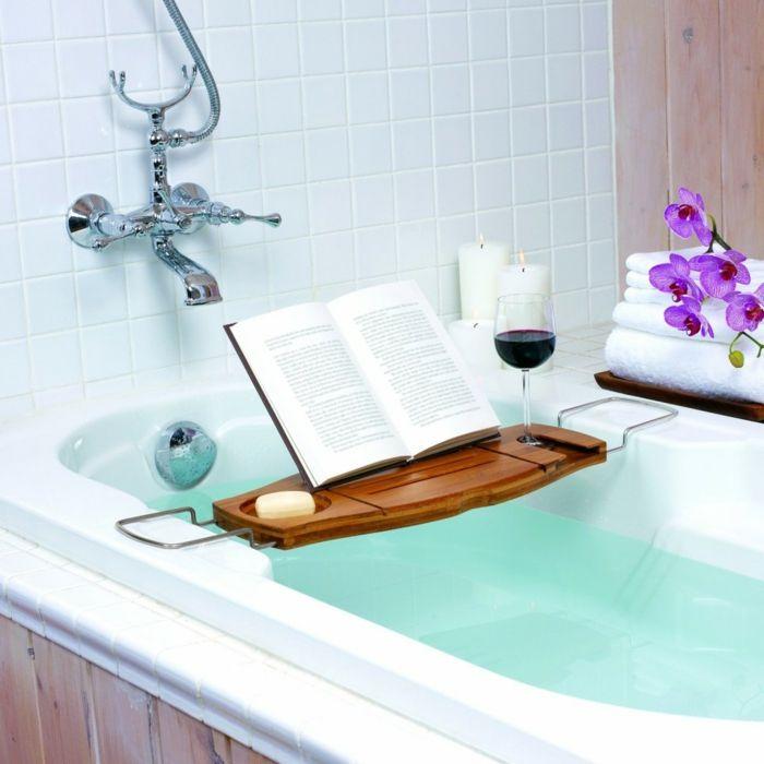 Badewannenablage Deko Badezimmer Ideen ablage badewanne lese - dekoration für badezimmer
