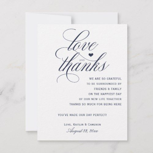 Wedding Thank You Note Wording: Wedding Thank You Cards For Tables