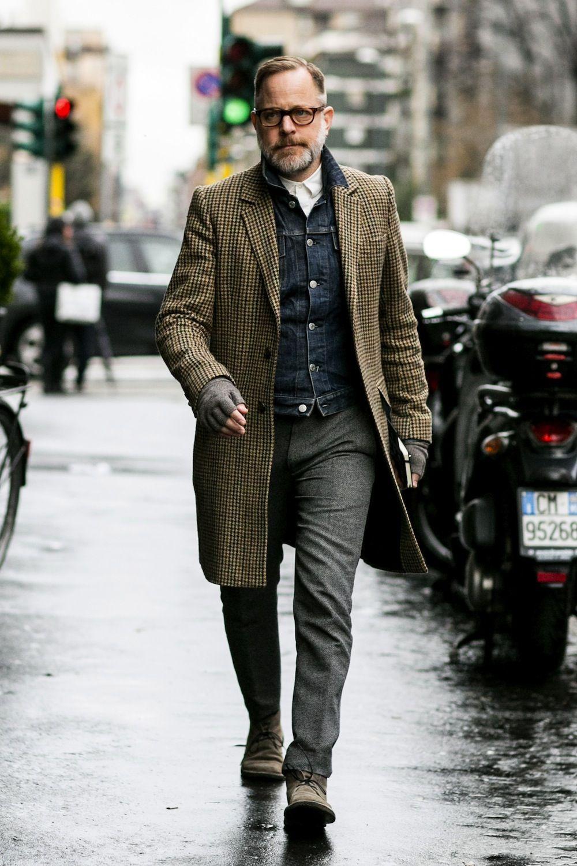 Mens street style, Milan