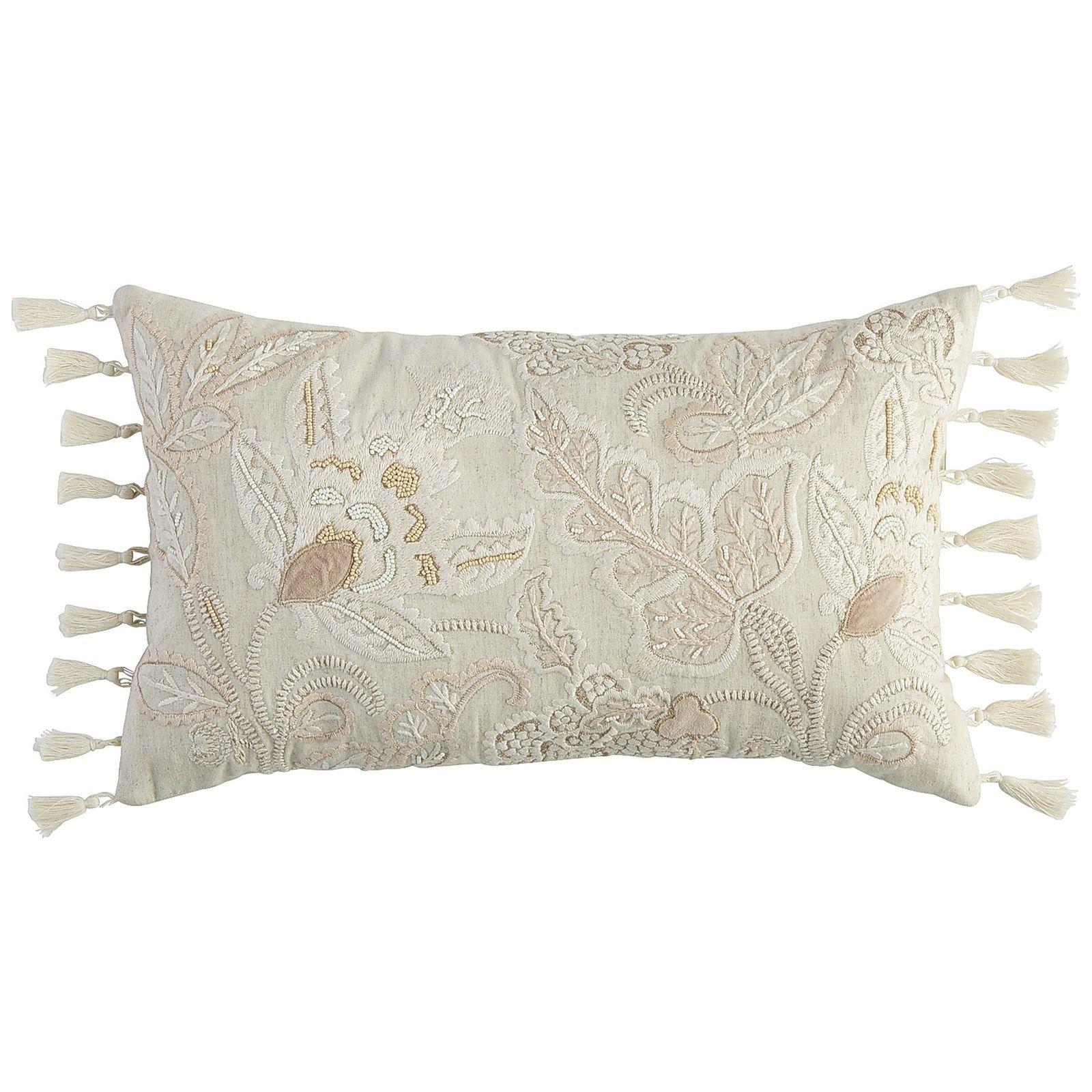 Romantic Glam Jacobean Lumbar Pillow $24.98