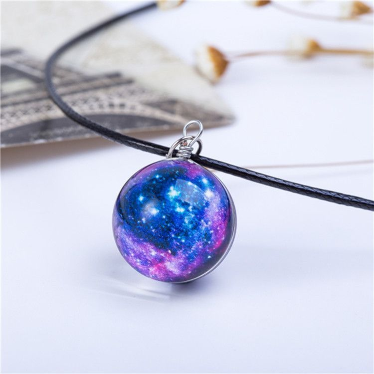 Galaxy mystical necklaces galaxy pattern leather chain and crystals galaxy mystical necklaces aloadofball Images