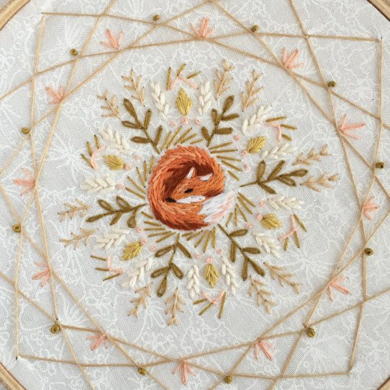 Sleeping fox mandala dream catcher embroidery pattern pdf download sleeping fox mandala dream catcher embroidery pattern pdf download hand embroidery patterns designs dream catchers catcher and mandala dt1010fo