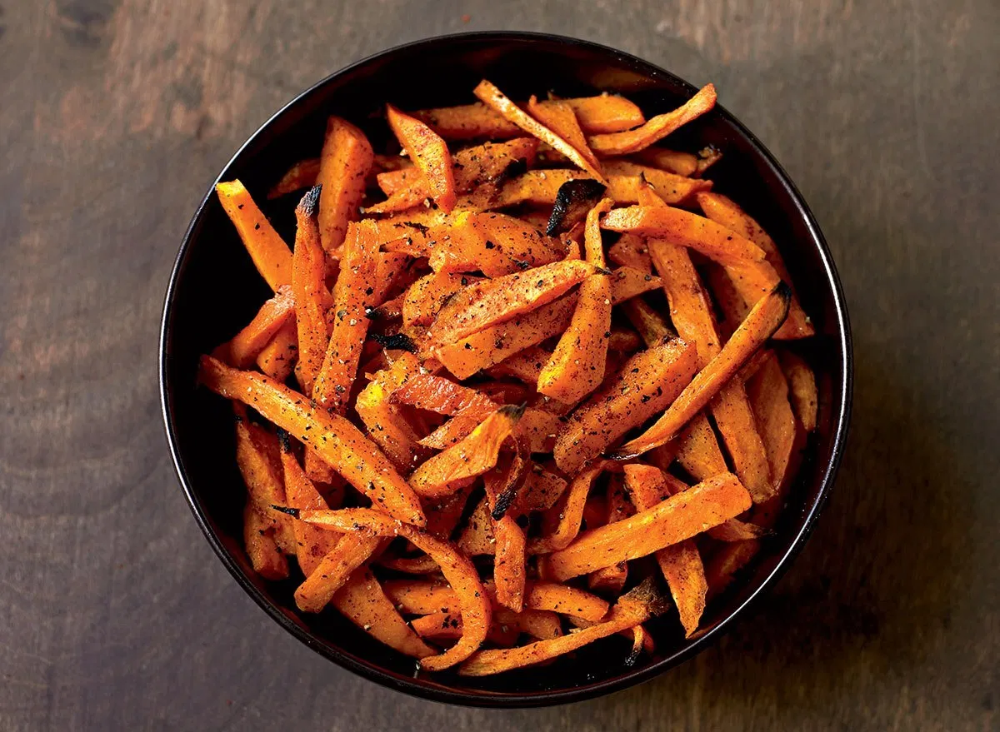 Baked Sweet Potato Fries Recipe Eat This Not That Recipe In 2020 Sweet Potato Recipes Healthy Stuffed Sweet Potato Healthy Sweet Potato Recipes